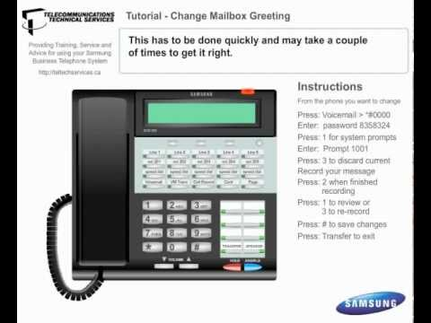 Voicemail Change Mailbox Greeting - Business Phone Systems Calgary