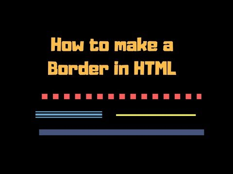 How to make a border in html notepad