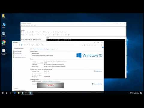 How to change your product key in windows 7,8 and 10