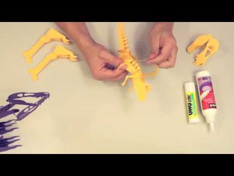 Skeleton T-Rex Paper Craft Kit Assembly Intructions