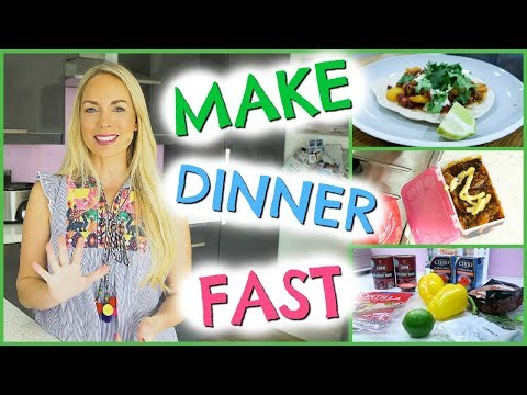 5 WAYS TO MAKE DINNER FAST  | QUICK MEAL IDEAS FOR KIDS  |   EMILY NORRIS AD