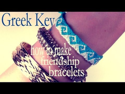 How to Make Friendship Bracelets ♥ Simple Greek Key
