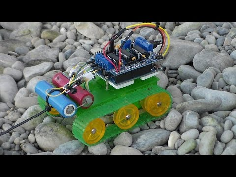 Bluetooth Controlled RC Tracked Robot with Arduino UNO, Motor Shield and HC-06