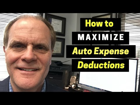 How To Maximize Auto Expense Deductions