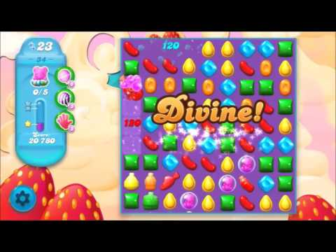 Candy Crush Soda Level 34 *Get the bear above the candy string*