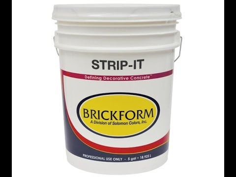 How to remove an acrylic concrete sealer with BRICKFORM STRIP IT