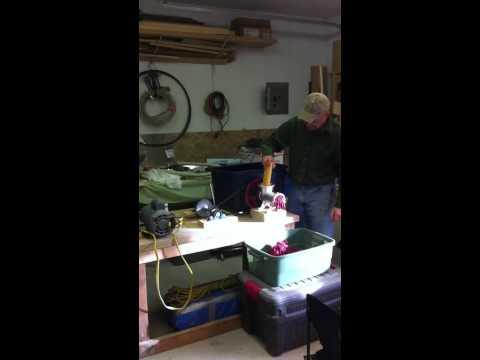 Home made meat grinder