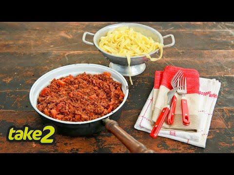 Easy Pasta Recipe with Bolognese Sauce