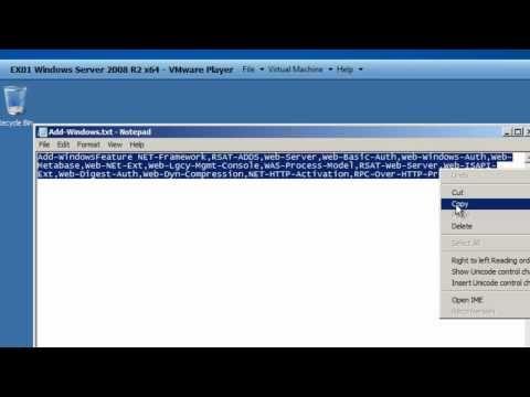 Exchange 2010 Server Preps for 2008 Server R2
