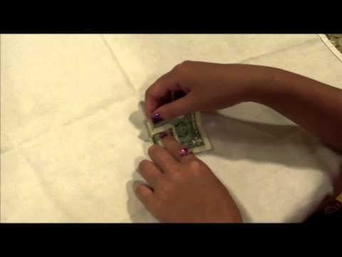 Money Origami- Tip basket