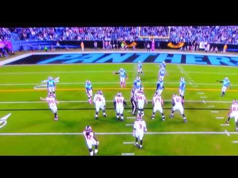 #27 McClain hammered down by #98. Panthers v. Bucs.