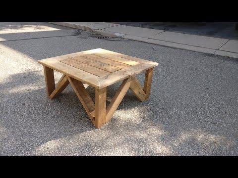 CUSTOM MADE DECK-WOOD COFFEE TABLE - Build Stuff