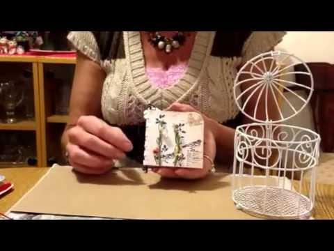 Piano binding bird book in cage