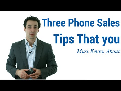 Three Phone Sales Tips You Must Know About