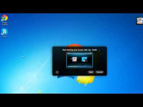 How to Show Your Desktop to Someone via Skype
