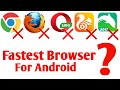 Fastest browser for Android 2018 | Best Internet browser for Android 2018