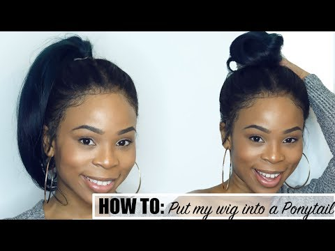 How to Put Your Wig into a HIGH Ponytail without using a 360 frontal