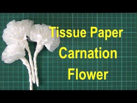 Simple Tissue Paper Flower Tutorial