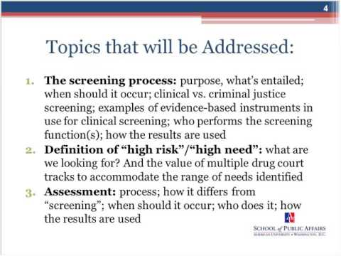 Strategies for Systematically Screening for Drug Court