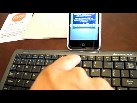 How to pair your iPod touch/iPad with a Bluetooth keyboard