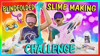 BLINDFOLDED SLIME MAKING CHALLENGE | We Are The Davises