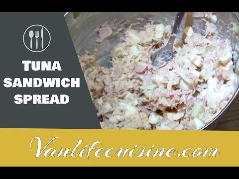 Homemade tuna salad sandwish spread