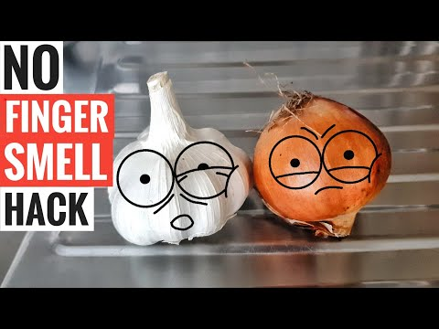 How To Get Rid Of Garlic And Onion hand smell hack trick - Remove finger smell quick & easy tutorial