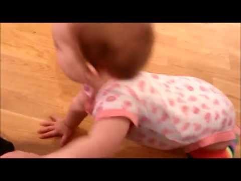 Commando crawling on a slippery floor