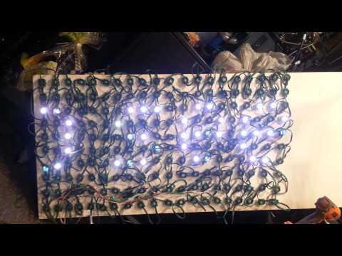 G-35 LED Christmas Lights pixel board test