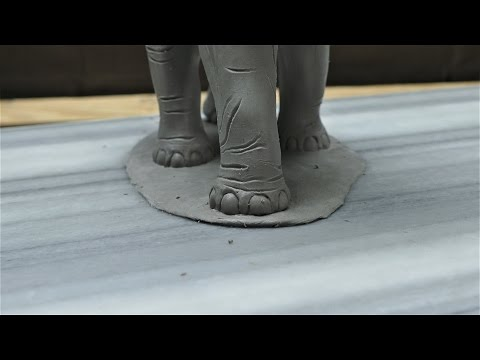 Sculpting an Elephant part 11: Tail, toes, and texturing part 1 of 2