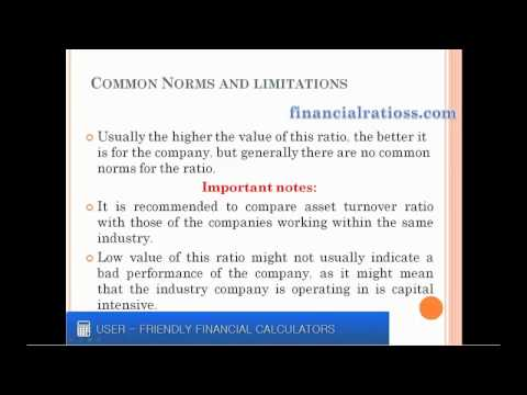 What is asset turnover ratio?