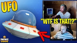 UFO SPACESHIP SEEN IN SALTY SPRINGS! NA DUO KILL RECORD! - Fortnite Moments #131