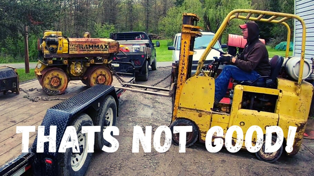 I got a FREE Diesel Trench Compactor!!! Will it run?!?