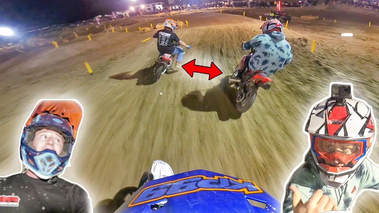 Pit Bike Race Turns into FIGHT...AGAIN!!
