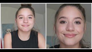 matte eye makeup look on my sis !!