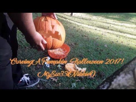 PUMPKING CARVING: Carving A Pumpkin (Halloween 2017!!!!) HAPPY HALLOWEEENNN! VIEW IN 1080pHD