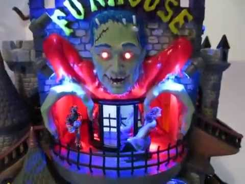 Lemax Spooky Town Funhouse Lighted Animated Musical Halloween Building