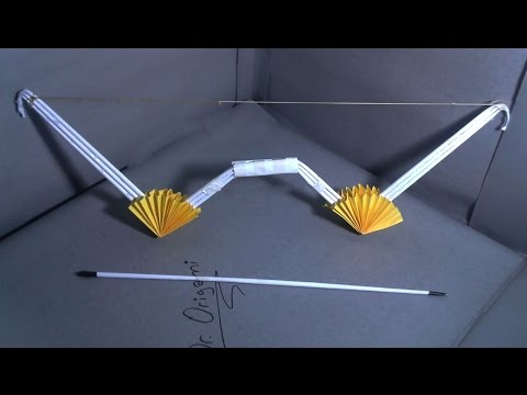 |DIY| How to make a paper dr. 002' bow and arrow' - Dr. Origami