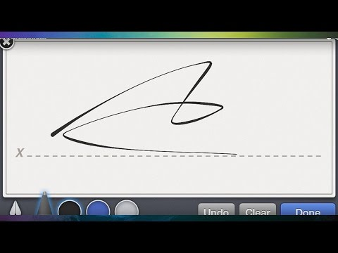 How to Sign Documents/ files using iPhone iPad iPod FREE app