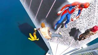 GTA 5 SPIDERMAN Mod Ragdolls Compilation #6 (GTA 5 Fails Funny