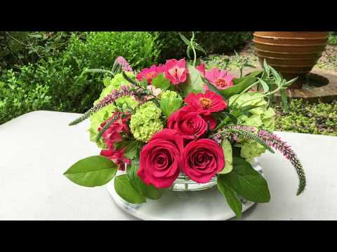 Summer Centerpiece in Hot Pink and Green
