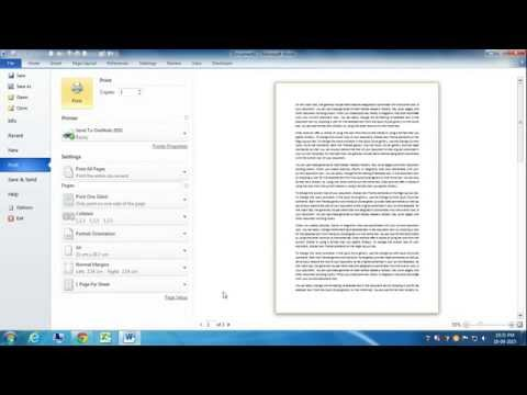 Shortcut Key for Print Preview in Word 2010