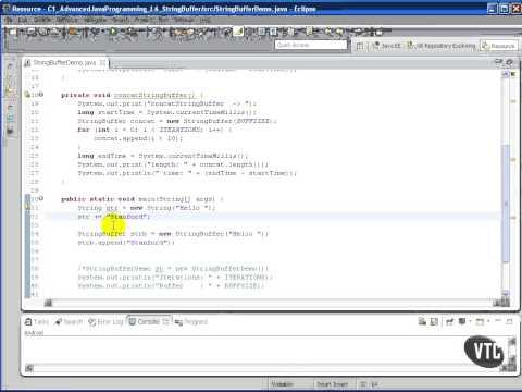 Advanced Java tutorial - The StringBuffer Class