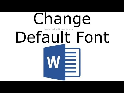 How to set default font in Word for new Document |Text Size