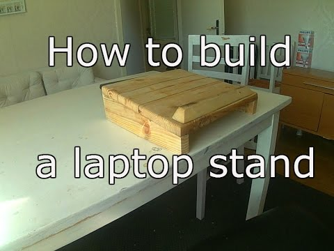 How to build a laptop stand from old pallet wood.