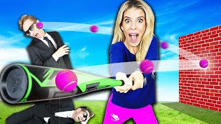 TRICK SHOT GAME in Real Life Challenge for $10,000! (Matt and Rebecca Zamolo Vs  Game Master Inc.)
