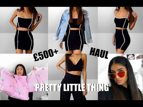 WOW...OKAY PLT // I SPENT £500+ ON PRETTY LITTLE THING TRY ON HAUL