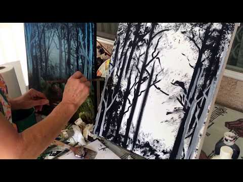 How to Paint a Forest Landscape (2/3)