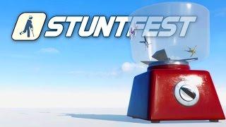 Stuntfest - Throwing Grandma in a Blender! - Ragdoll Physics Meets Wreckfest! Stunt Fest Gameplay