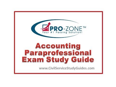 Accounting  Paraprofessional Exam Study Guide